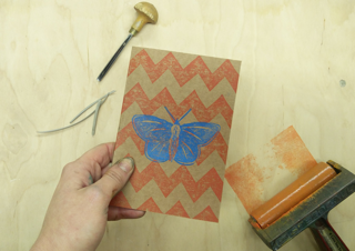Libby Morris Lino butterfly